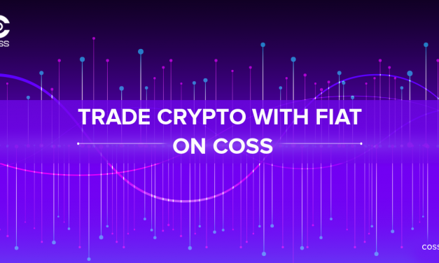 Trade Crypto with FIAT on COSS with low fees