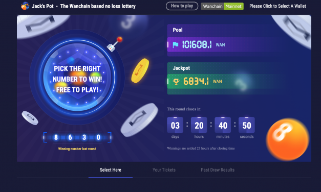 """Jack's Pot"" – DECENTRALIZED NO-LOSS LOTTERY LIVE ON WANCHAIN"